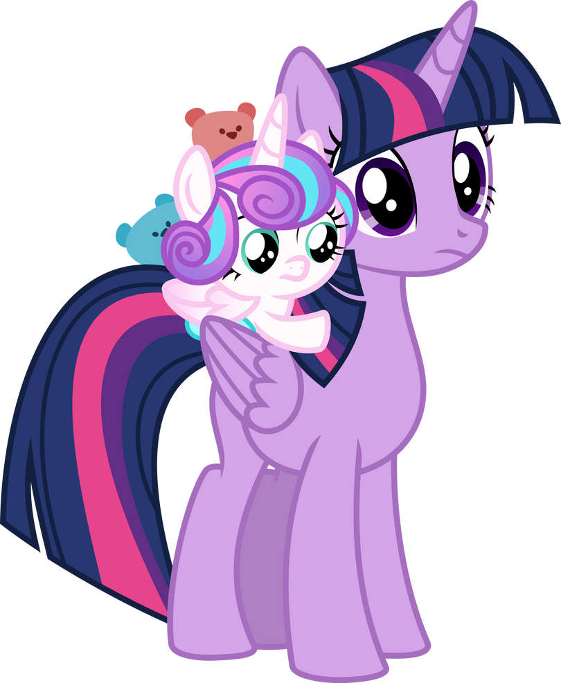 Twilight Sparkle and Flurry Heart Vector