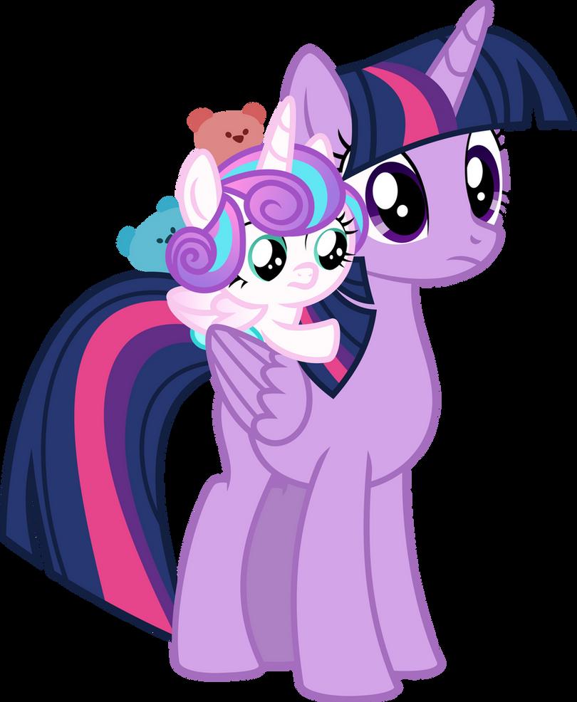 Twilight Sparkle and Flurry Heart Vector