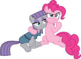 Pinkie Pie and Maud Pie Vector by DeyrasD