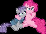 Pinkie Pie and Maud Pie Vector
