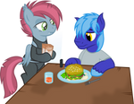 Vector DayanDey and Nela Schuss at dinner by DeyrasD