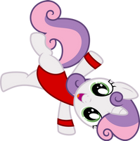[RQ] Sweetie Belle in Her Fitness Outfit by DeyrasD