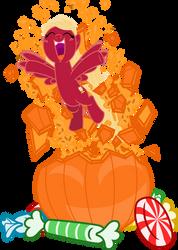 Redi jumps out of the pumpkin by DeyrasD