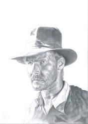 Portrait Harrison Ford as Indiana Jones