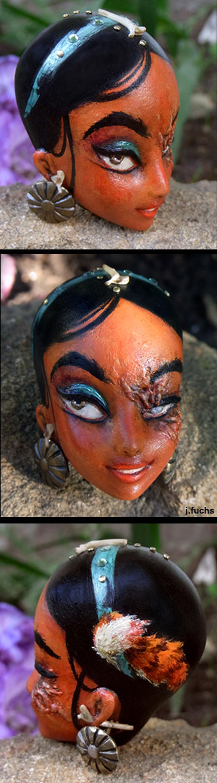 The Creepy Head of Princess Jasmine by teaspoons