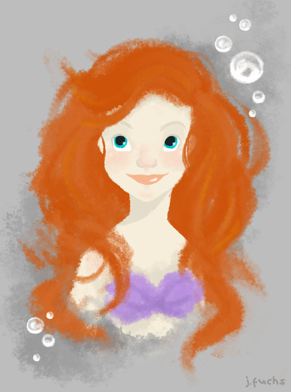 Ariel Sketch by teaspoons