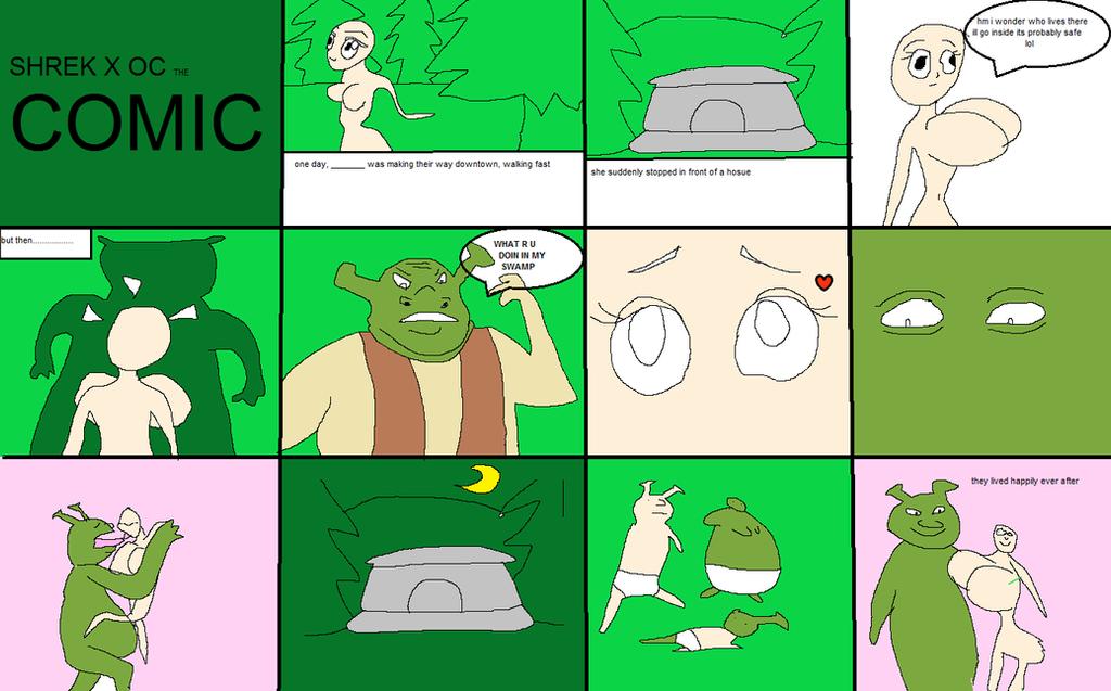 Shrek X OC Comic Base By Blazeitdoge