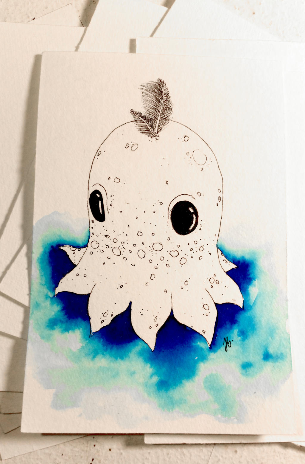 2017 - 10 - Inktober 1 - Octopus