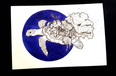 2017 - 10 - Inktober 4 - Turtle
