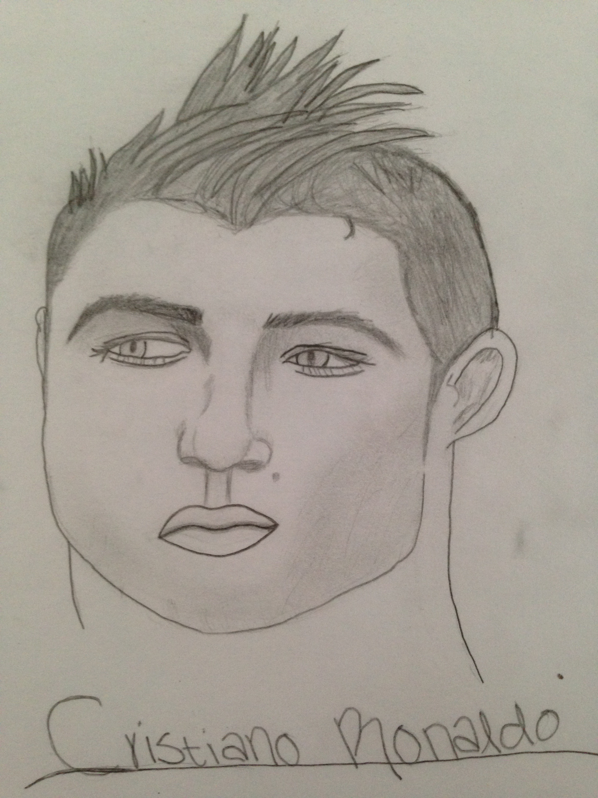 Cristiano Ronaldo Pencil Drawing By Blondiebipride On Deviantart