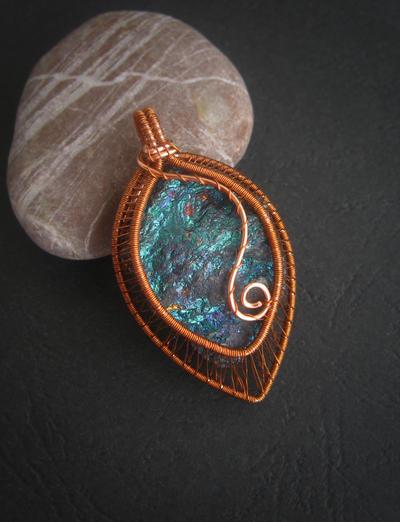 Chalcopyrite Pendant by diana-irimie