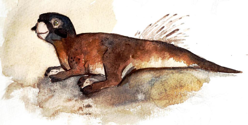Psitakozaur, autor: Nathan Hicks