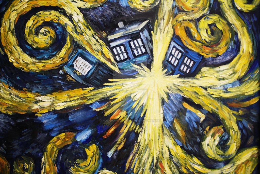 Exploding Tardis Van Gogh Style by HolyMaryOfCakes on ...  Exploding Tardi...