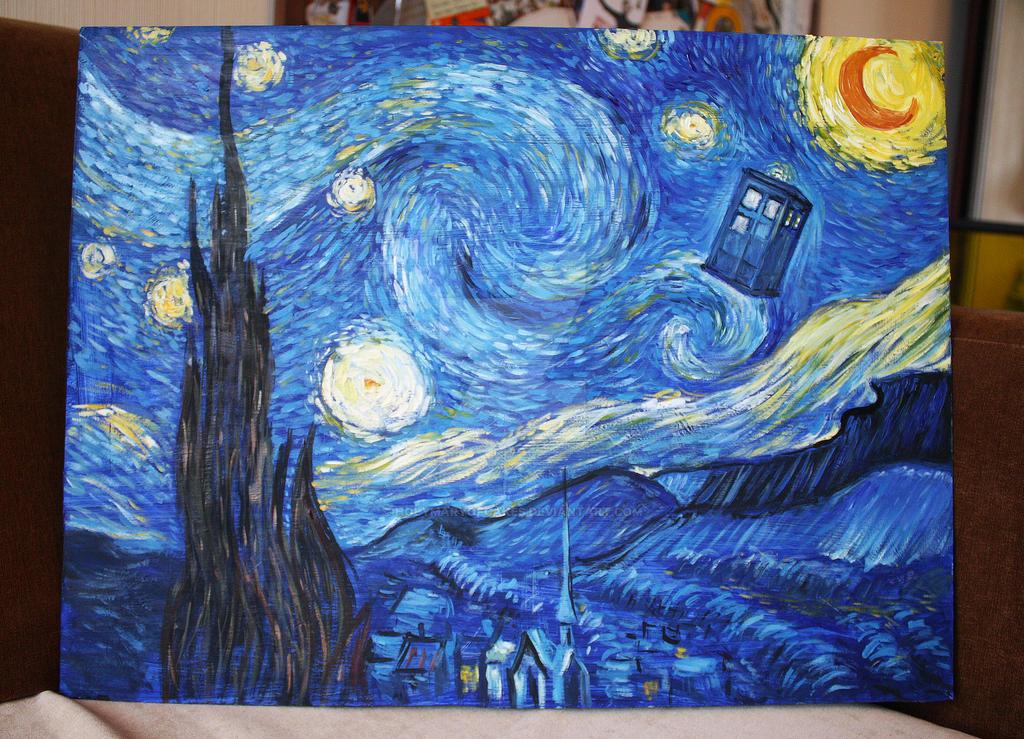 starry night van gogh tardis wwwpixsharkcom images