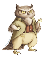 Sylvan the Great Horned Owl by danielleclaire