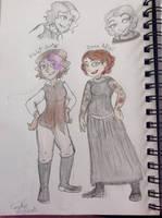 VIOLET HUNTER and IRENE ADLER by ravenviolet777