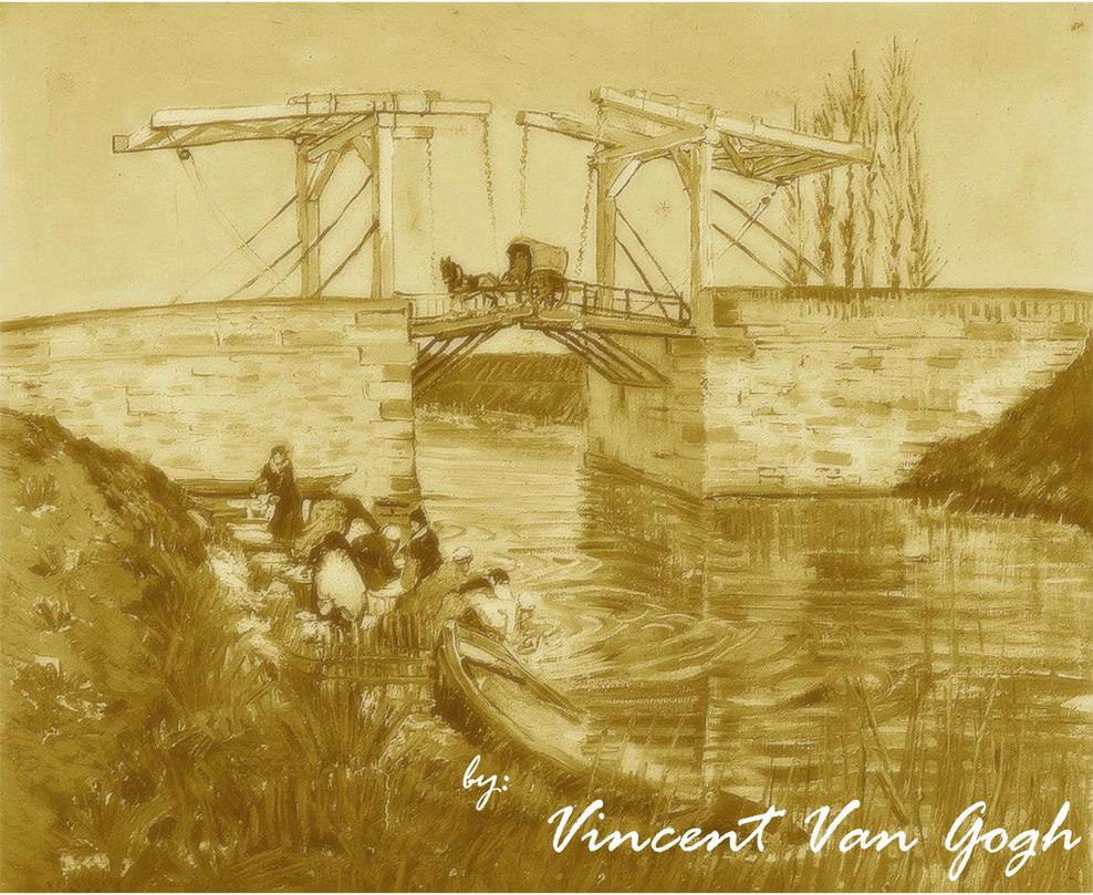 The Langlois Bridge by Annie-O