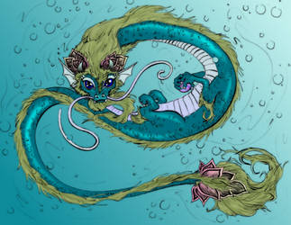 Water Dragon by yeahiknowshutup