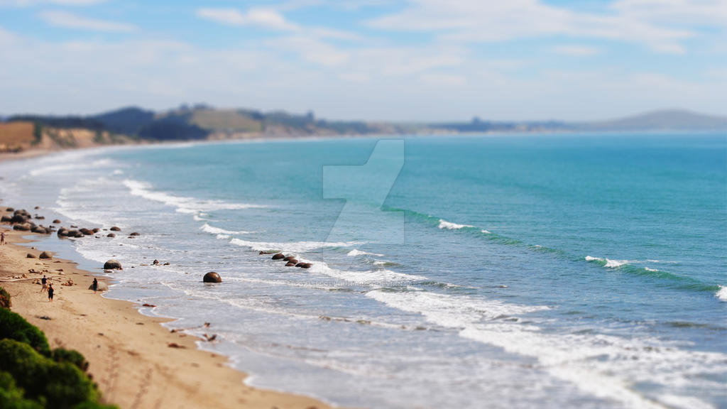 Tilt-Shift Beach Photography by GoalIsSoulGuitarist