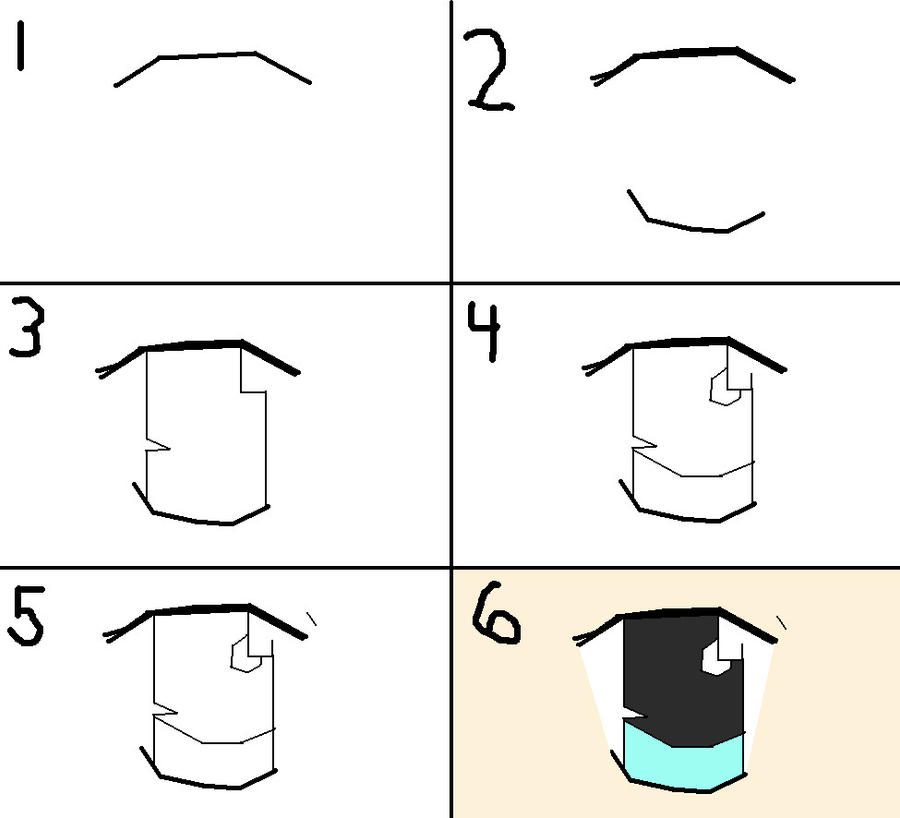 How To Draw Anime Eye By Angelzombie