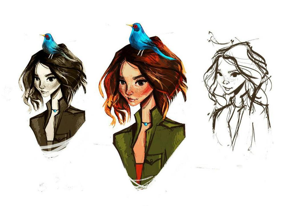 conceptual story's main character  by fatimaharoun