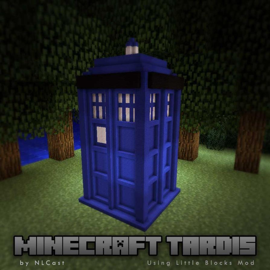 tardis minecraft using little blocks mod by nlcast on