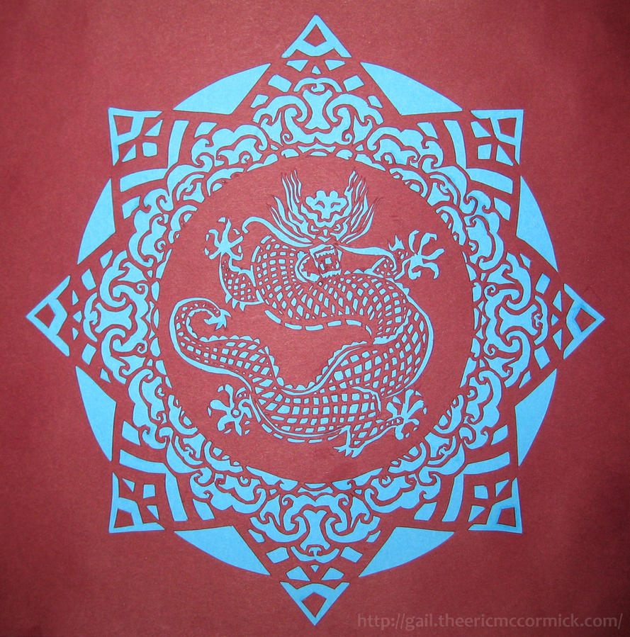 Paper mandalas 6 dragon by zippybluedwarf on deviantart - Mandala dragon ...