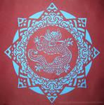 Paper Mandalas 6 - Dragon
