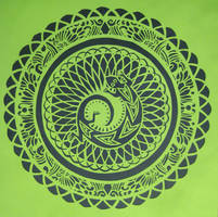 Paper Mandalas 8 - Lizard