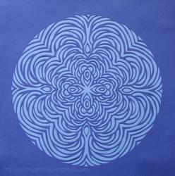 Mandala 13 - Rounded Blue