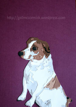 Pip  - Layered paper dog