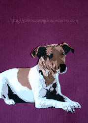 Tali - Layered paper dog