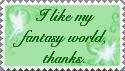 'I like my world' Stamp by MotleyDreams