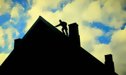 Man on the roof by LeonoraChris