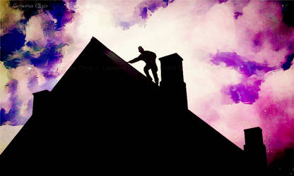 Man on the roof 2 by LeonoraChris