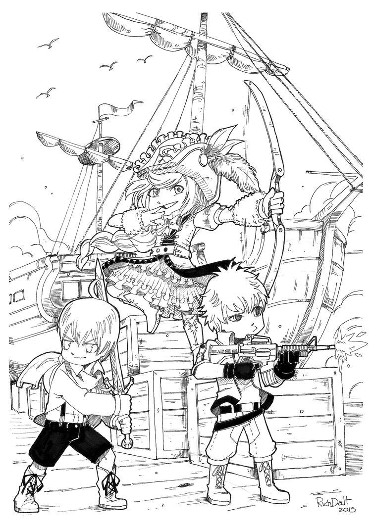 El trio de loquitos armados by RichDalt