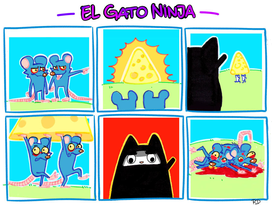 Gato Ninja comic 2 by RichDalt
