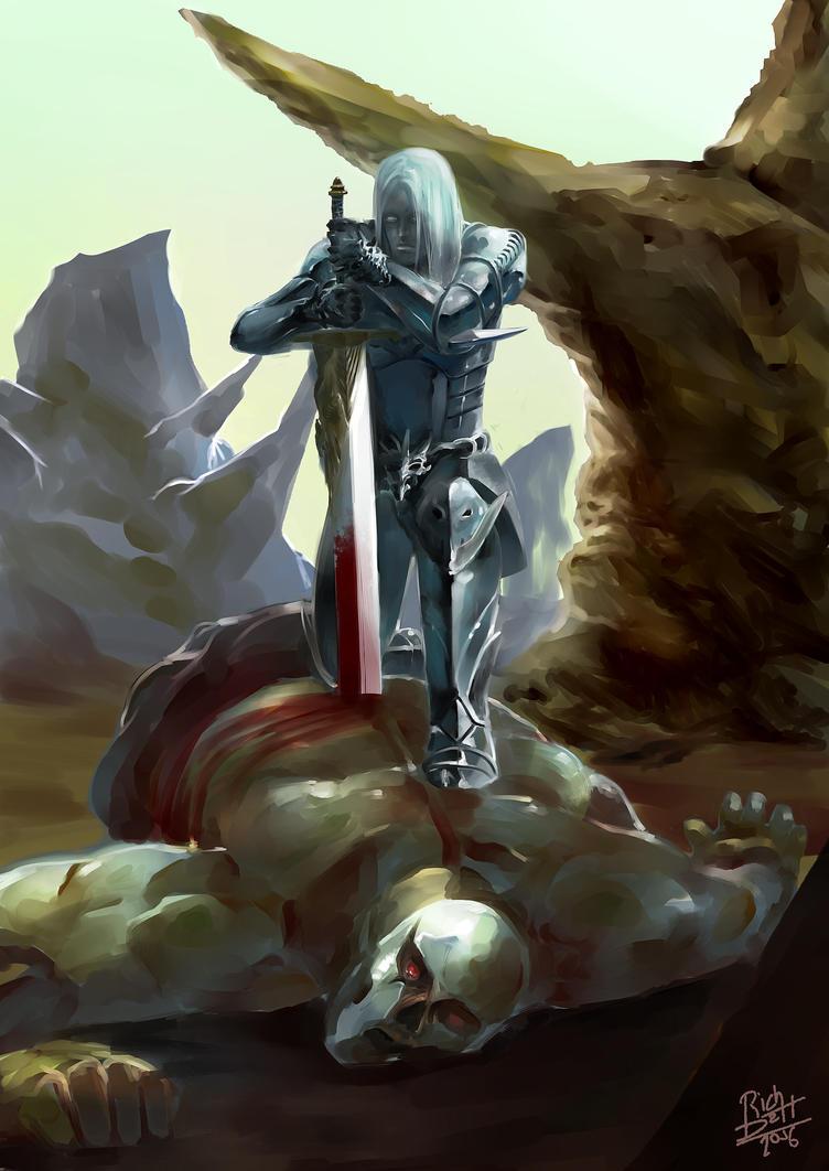El guerrero mata Gordos feos by RichDalt