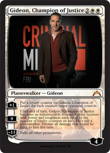 Gideon champion of justice mtg parody card by munna for Parody magic cards
