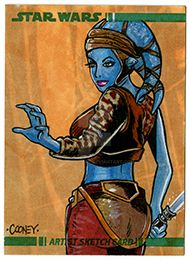 Cooney Aayla Secura Sketchcard Sm by dcooneyart