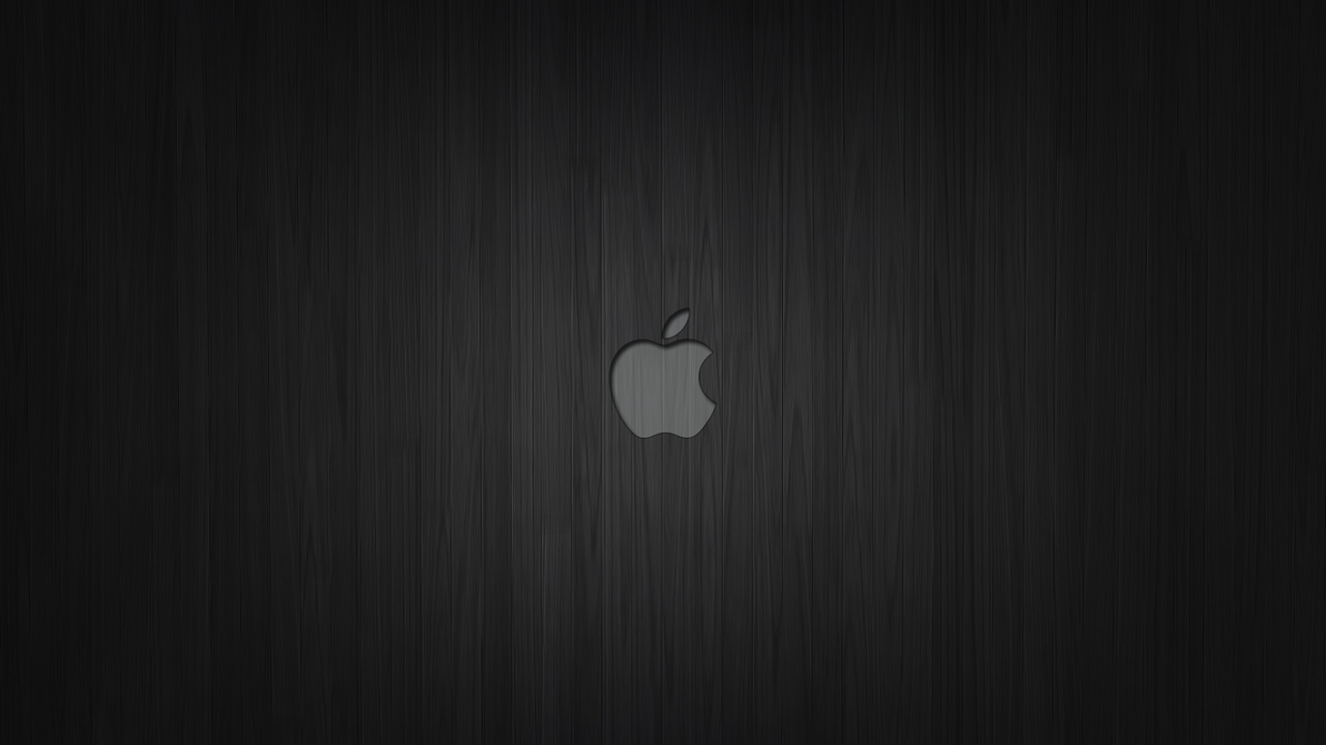 Apple Dark Wood Wallpaper By Bercikmeister