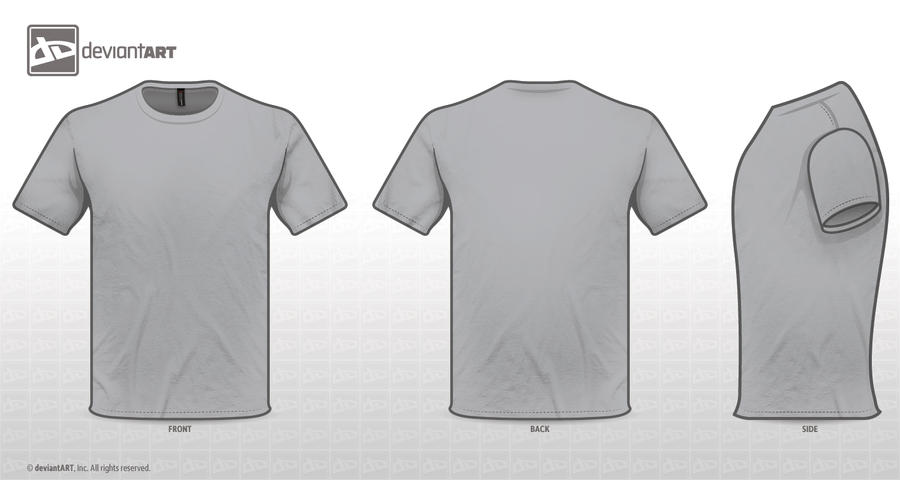 T shirt design template front