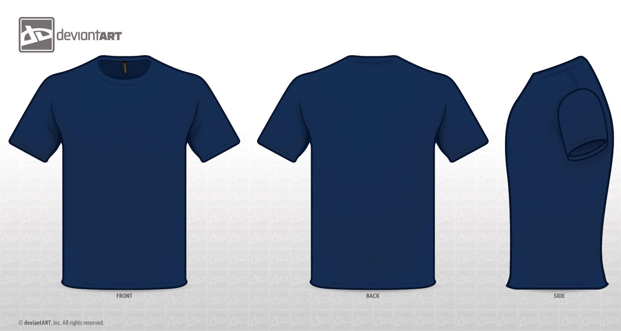 T shirt blue template by zombieabstract on deviantart for Blue t shirt template