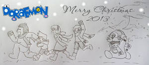 Frozen : Snow Ball Fight !! (Doraemon version)