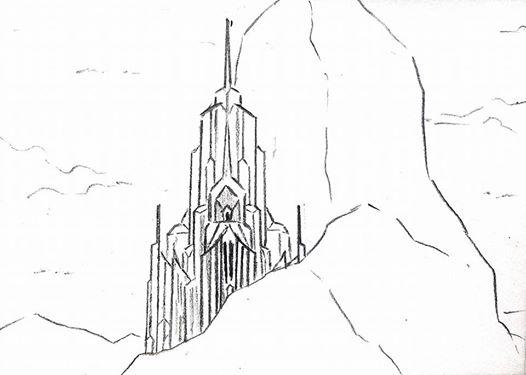 Frozen Ice Castle Sketch By Doraemonbasil On DeviantArt