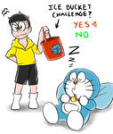 Doraemon and Nobita : Ice bucket challenge