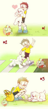 Nobita and Peko