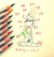 Mr.Peabody : Let's make a cake ! by doraemonbasil