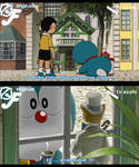 Doraemon , Nobita meet Baron Humbert Von Gikkingen