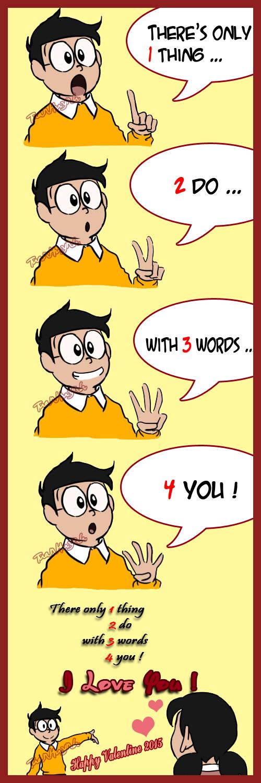 Nobita and Shizuka : Happy Valentine 2015